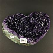Sale 8567 - Lot 689 - Large Amethyst Heart, Brazil