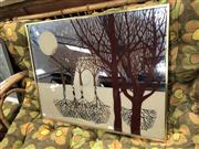 Sale 8782 - Lot 1088 - Decorative Mirror Forrest Reflection (small chip to corner)