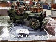 Sale 8817C - Lot 537 - K&C Figural Group; Airborne Officer & Radio Team