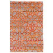 Sale 8820C - Lot 21 - An  India Mosaic Design Sari Silk in Sari Silk & Handspun Wool 222x161cm