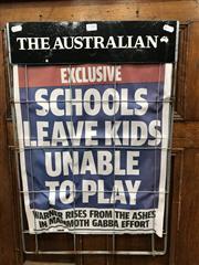 Sale 8878T - Lot 57 - Vintage The Australian Newspaper Advertising Headline Board Dimensions - 64cm x 43cm