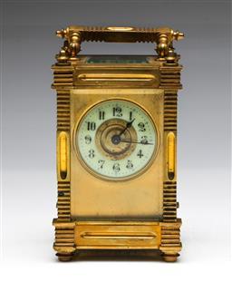 Sale 9093 - Lot 96 - Brass Cased Carriage Clock H: 13cm