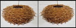 Sale 9154 - Lot 1079 - Pair of bird nest lampshades (h21 x d53cm)