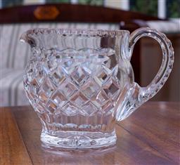 Sale 9190H - Lot 34 - A good quality fancy hand cut lead crystal large jug C: 1940s