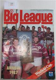 Sale 8404S - Lot 59 - 1987 Big League Annual Magazine, showing Manly on front cover
