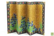 Sale 8490 - Lot 239 - Miniature 6 Panel Folding Screen Depicting the Culture of the Edo Era, Ogata Kohrin