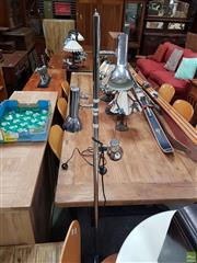 Sale 8601 - Lot 1494 - Chrome Standing Lamp