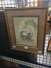 Sale 8707 - Lot 2079 - Indo-Persian School - Elephant Uprooting a Tree watercolour and ink, 30.5 x 26cm (frame)