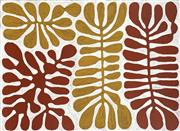 Sale 8743 - Lot 503 - Mitjili Napurrula (1945 - 2019) - Watiya Tjuta (Acacia Trees) 77 x 103cm (stretched and ready to hang)