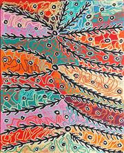 Sale 8808 - Lot 516 - Liddy Napanangka Walker (1925 - ) - Wanakji Jukurrpa (Bush Tomato Dreaming), 2007 152 x 122cm (stretched and ready to hang)
