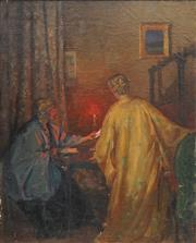 Sale 8870A - Lot 582 - Attributed to Archibald Woodhouse - The Letter ,1917 73 x 59 cm