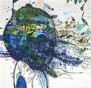 Sale 9009A - Lot 5047 - John Olsen (1928 - ) - Five Bells 59 x 59 cm (frame: 83 x 83 x 3 cm)