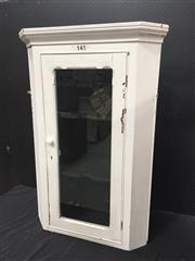 Sale 9071 - Lot 1024 - Painted Hanging Corner Cabinet (H116 x W78 x D48cm)