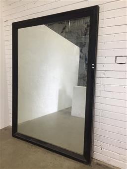 Sale 9121 - Lot 1040 - Large timber framed mirror (200 x 150cm)