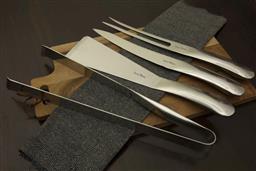 Sale 9240L - Lot 12 - 4-Piece BBQ Set - Polished - Laguiole Organique by Louis Thiers