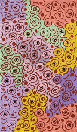 Sale 9191H - Lot 48 - GLENYS GIBSON NUNGURRAYI (1968 - ) - Womens Ceremony 160 x 95 cm