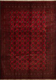 Sale 8379A - Lot 35 - A hand knotted Afghan Turkoman carpet, 300cm x 200cm