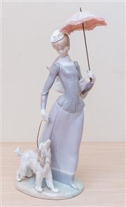 Sale 8430 - Lot 54 - A Lladró lady walking her dog