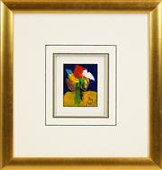 Sale 8434 - Lot 529 - Kevin Charles (Pro) Hart (1928 - 2006) - Flowers 13 x 10cm