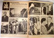 Sale 8460C - Lot 16 - PIX Magazine. July 9, 1938. Double page story on Bradman – as the crowd does not see him. Very good.