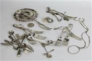 Sale 8463 - Lot 10 - Assortment of HMSS incl Cutlery & a Babys Rattle
