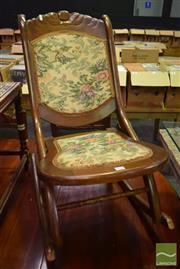 Sale 8542 - Lot 1018 - Folding Rocking Chair