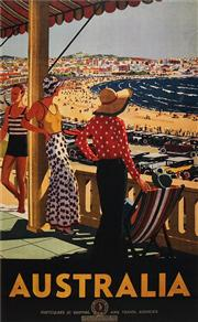 Sale 8592A - Lot 5066 - Percy Trompf (1902 - 1964) - Australia, c1929 50.5 x 32cm (frame size: 84 x 68cm)