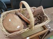 Sale 8601 - Lot 1292 - Wicker Basket with Contents