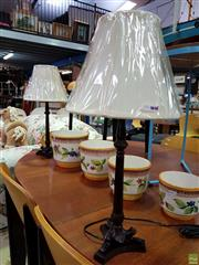 Sale 8629 - Lot 1087 - Pair of UK Baroque Style Table Lamps (5733)