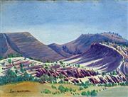 Sale 8655A - Lot 5020 - Enos Namatjira (1920 - 1966) - Windswept Gorge 29 x 39cm