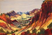 Sale 8675 - Lot 579 - Herbert Raberaba (1920 - 1980) - Central Australian Landscape 25 x 35cm