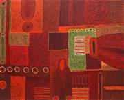 Sale 8808 - Lot 555 - Tjungkara Ken (1969 - ) - Ngayuka Ngura (My Country), 2008 122 x 152cm (stretched and ready to hang)