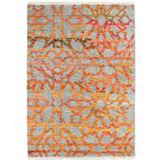 Sale 8820C - Lot 28 - An India Mosaic Design Sari Silk in Sari Silk & Handspun Wool 222x161cm