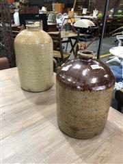 Sale 8893 - Lot 1022 - Ceramic Demijohns x 2