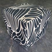 Sale 9022 - Lot 1009 - Florence Broadhurst Upholstered Ottoman (H:42 x W:42cm2)