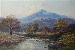 Sale 9141 - Lot 583 - Alfred Breanski Jr (1877 - 1957) River Llugwy at Capel Curig, North Wales oil on canvas 49 x 74 cm (frame: 70 x 95 x 6 cm) signed lo...