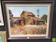 Sale 8413T - Lot 2022 - Garrick Tremain (1941 - ) - Scotts Barn, Karangarua, NZ 44 x 57.5cm