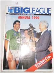 Sale 8404S - Lot 61 - 1990 Big League Annual Magazine, showing Mal Meninga (Canberra) & Bob Hawke on front cover