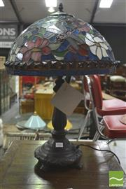 Sale 8406 - Lot 1086 - Leadlight Shade Table Lamp