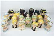 Sale 8419 - Lot 49 - Crown Ceramics Marilyn Monroe Pots with Others