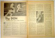 Sale 8460C - Lot 17 - Parade Magazine. November 1967. Double page story on Don Bradman. Good.
