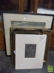 Sale 8483 - Lot 2072 - Collection of Pictures incl. Tapestries, Metal Plaque, Engravings, etc