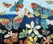 Sale 8755A - Lot 5014 - David Bromley (1960 - ) - Butterflies 76 x 90.5cm (frame size: 91 x 104.5cm )