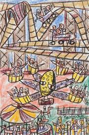 Sale 8519 - Lot 505 - Pasquale Giardino (1961 - ) - Luna Park, Octopus, 2006 56 x 38cm