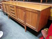Sale 8625 - Lot 1009 - G-Plan Fresco Teak Sideboard with Four Doors & Drawers (H: 80 W: 213 D: 46cm)
