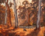 Sale 8656 - Lot 569 - Kevin Best (1932 - 2012) - Sun Up in the Sticks 49.5 x 55.5cm