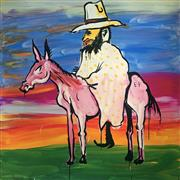 Sale 8752A - Lot 5015 - Adam Cullen (1965 - 2012) - Kelly and Pink Horse 112 x 110cm