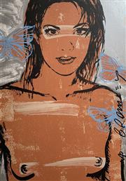 Sale 8756A - Lot 5015 - David Bromley (1960 - ) - Belinda with Butterflies 110 x 75cm
