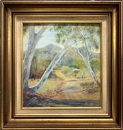 Sale 8776 - Lot 2091 - D N Brindley - Australian Bush Scene oil on board, 47 x 46cm (frame), signed lower right -