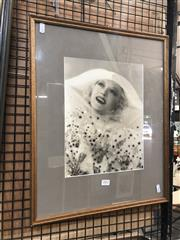 Sale 8784 - Lot 2052 - Elma Fryer Portrait of Marion Davies, silver gelatin photograph, 53 x 43cm, studio stamp lower right